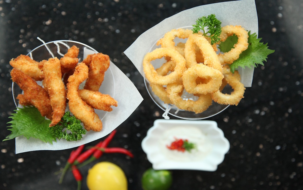 Calamari and Fish Fingers quick fish recipes eat more fish