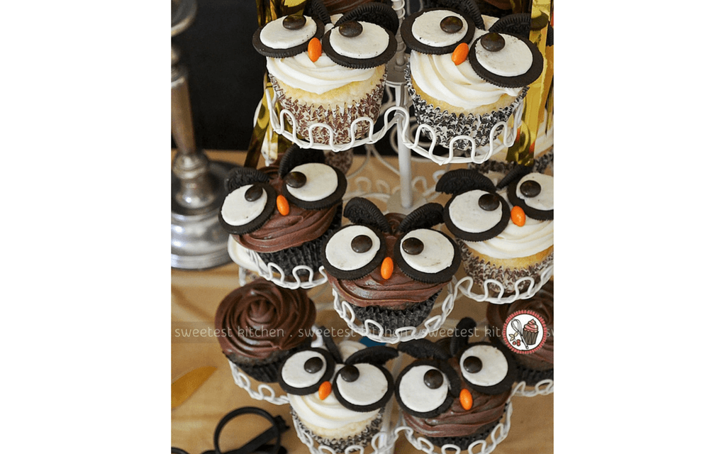 Harry Potter food Owl cupcakes from Sweetest Kitchen