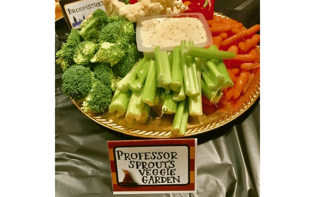 Harry Potter food Professor Sprout garden platter from Mom Always Finds Out