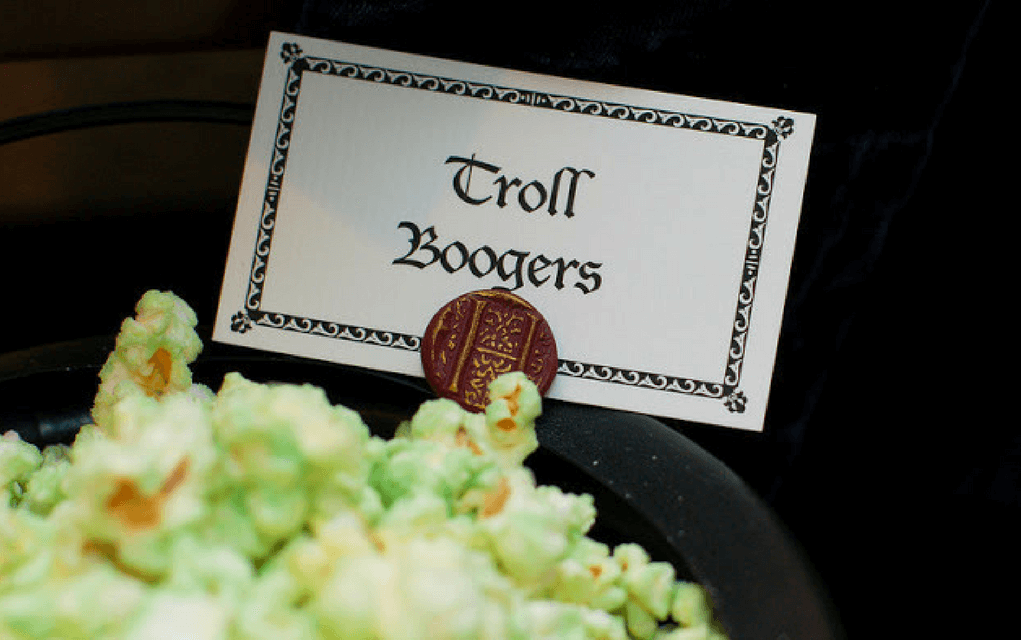 Harry Potter food troll boogers popcorn from Tradewind Tiaras