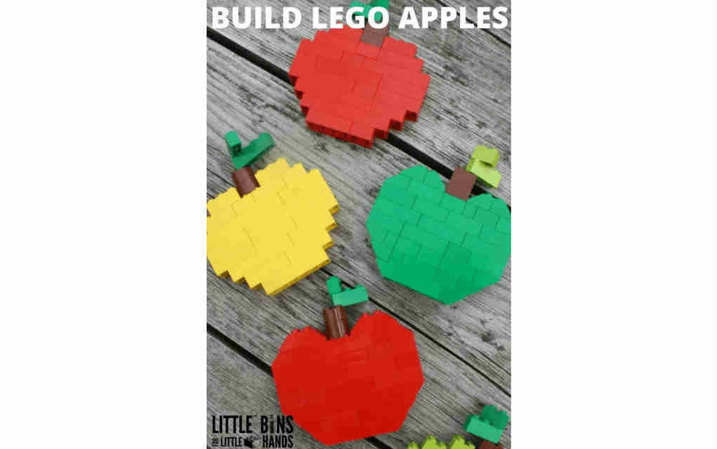 LEGO instructions for apples