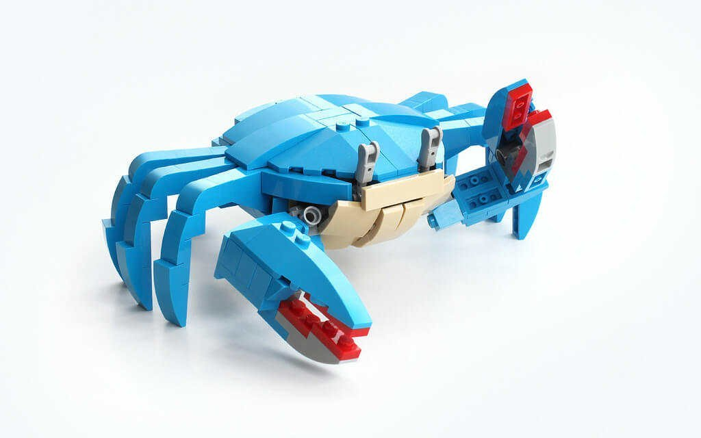 LEGO instructions for crab