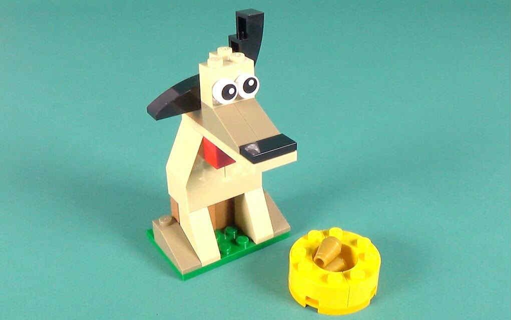 LEGO instructions for dog