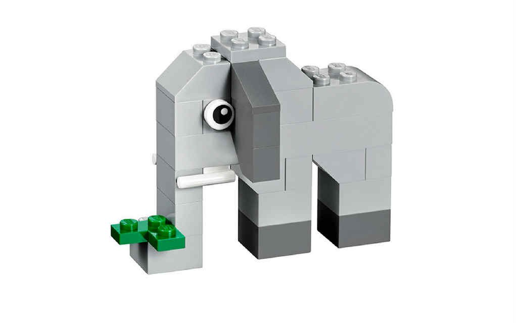 LEGO instructions for elephant