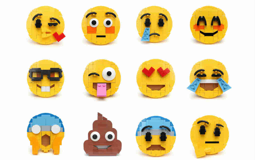 LEGO instructions for emoji