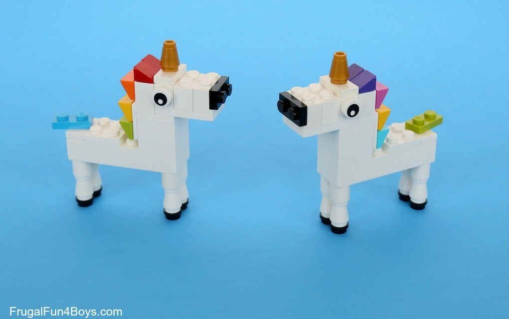 LEGO instructions for unicorn