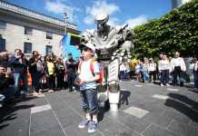 Laya city spectacular titan the human robot Free family friendly festivals in Ireland