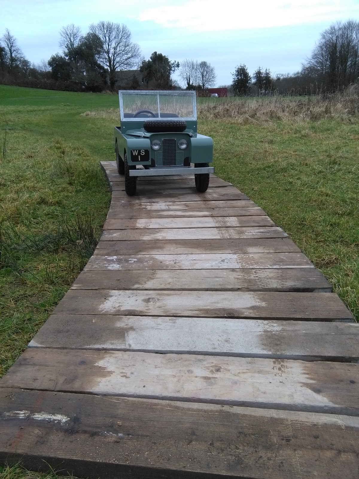 Lough Key Jeep on track