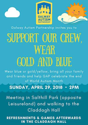 Support our crew - wear Gold & Blue things to do in Galway with kids