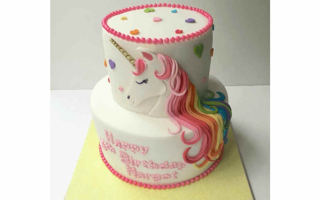 Unicorn cake ideas two tier unicorn cake