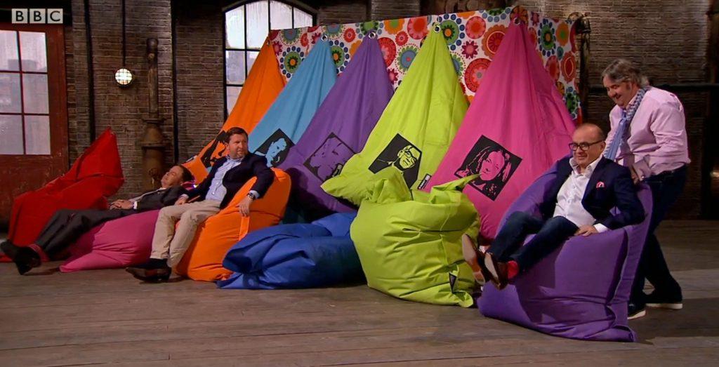 bigboy bean bag on BBC's Dragons Den – June 2016