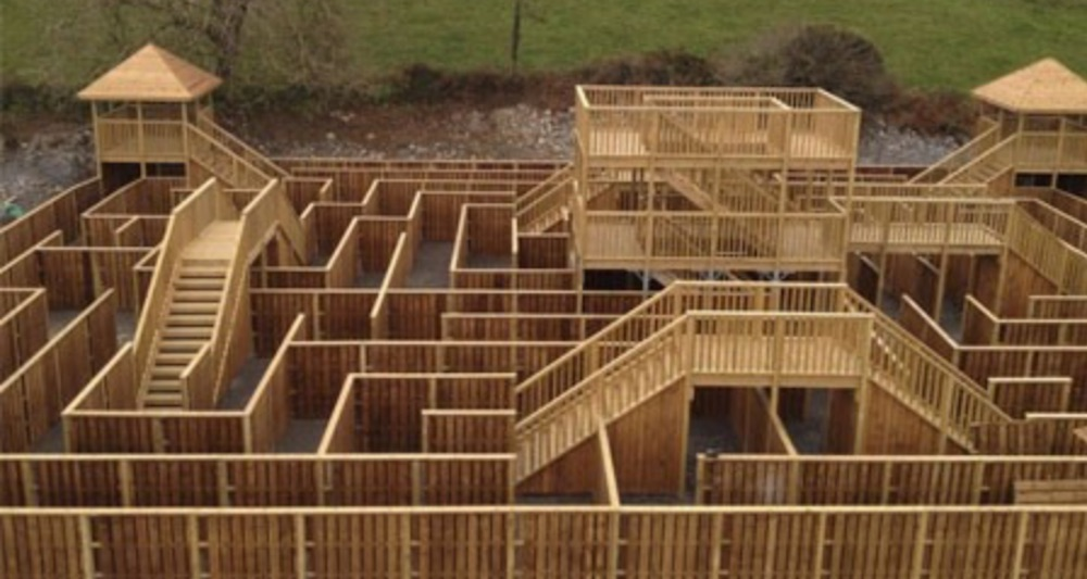 smugglers cover wooden maze mazes in Ireland