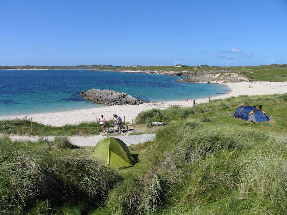 Clifden Eco Beach Campsites in Ireland