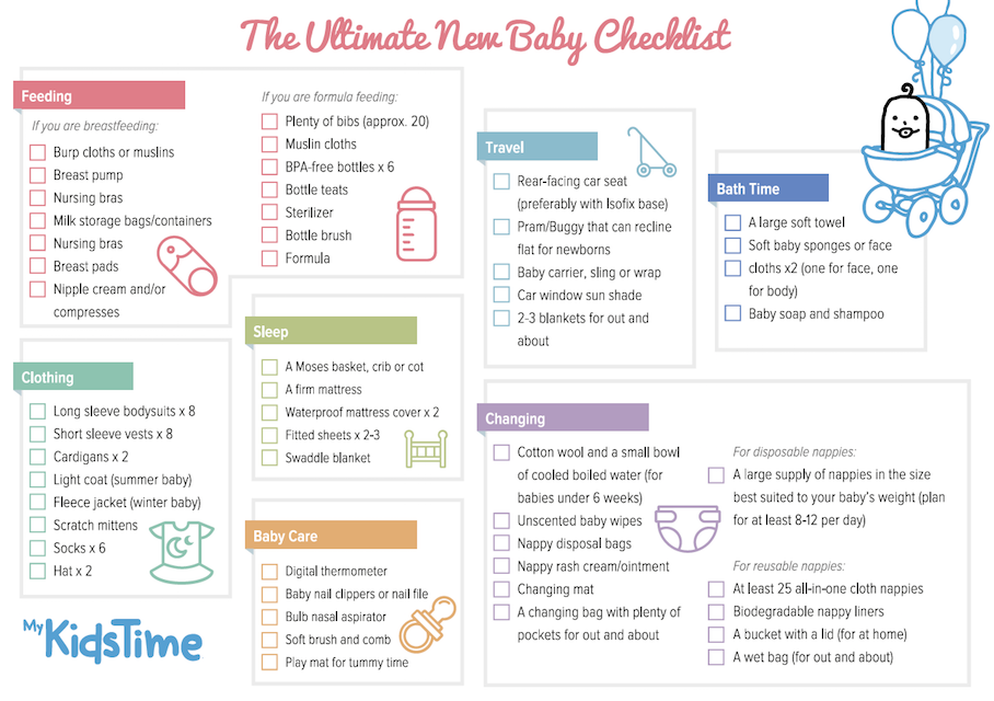 f0fe9c37b What Do You Need For a New Baby  The Ultimate Baby Checklist!