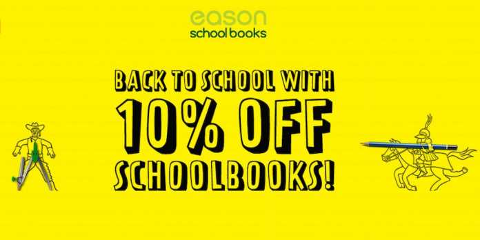 Save money on school books with Eason 2019