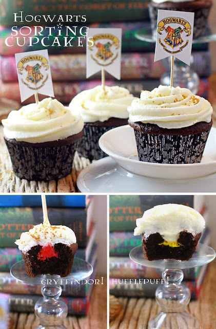 Sorting hat cupcakes Harry Potter party food ideas