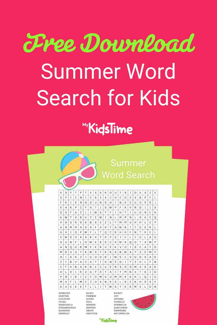 Summer word search - Mykidstime (1)