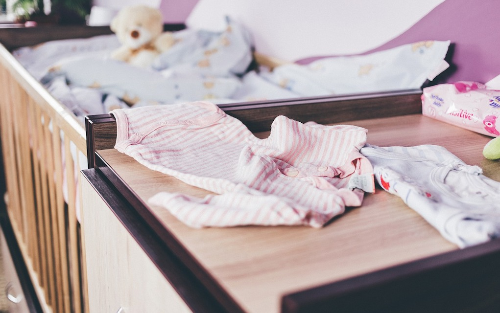 baby clothes in nursery for baby checklist