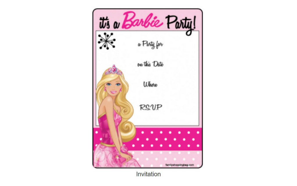 barbie party invite