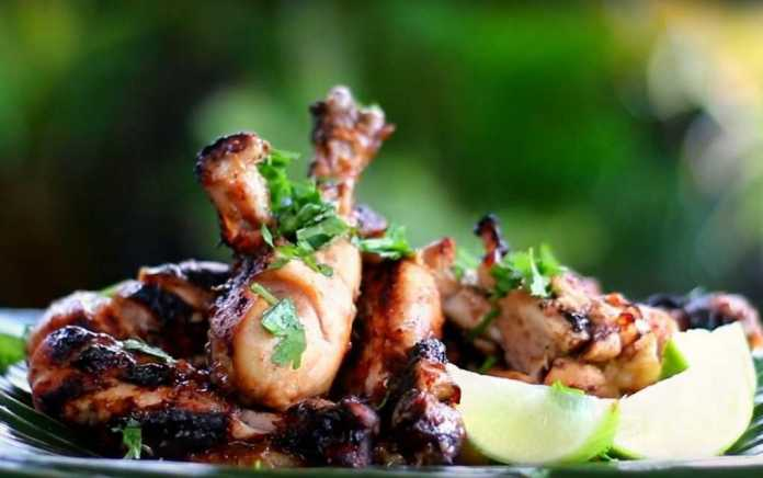 chicken drumsticks with lime and ginger