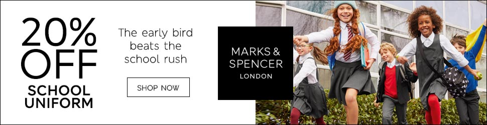Save on school wear from M&S