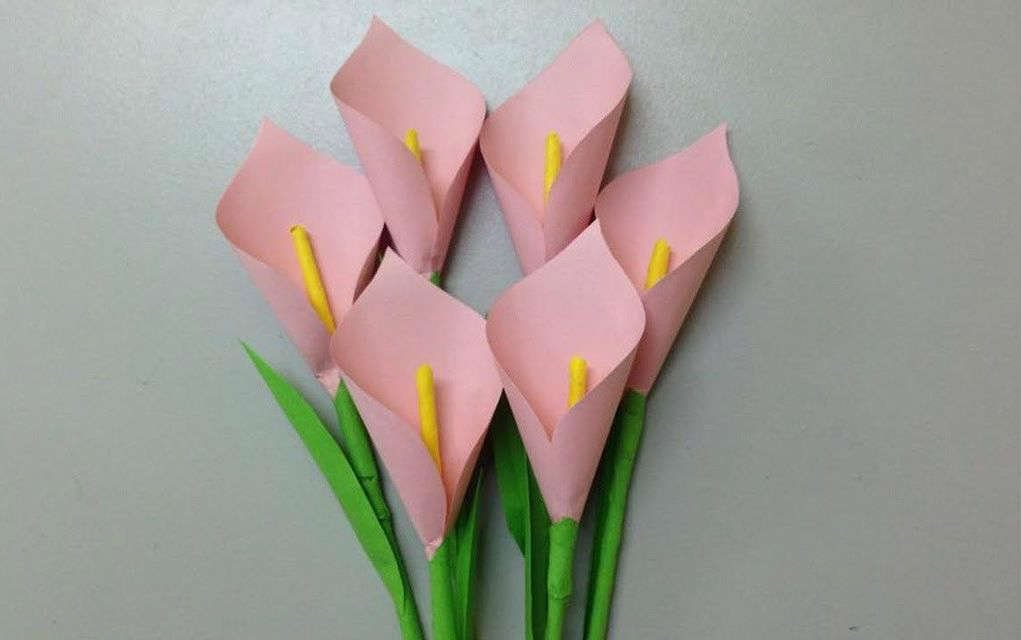 Calla Lily Paper Flowers