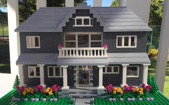 LEGO model house replica
