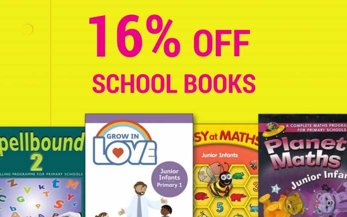 Save on schoolbooks from Eason