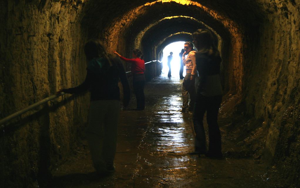 Servants Tunnel at Lough Key Forest Park historic places in Ireland horrible histories in Ireland