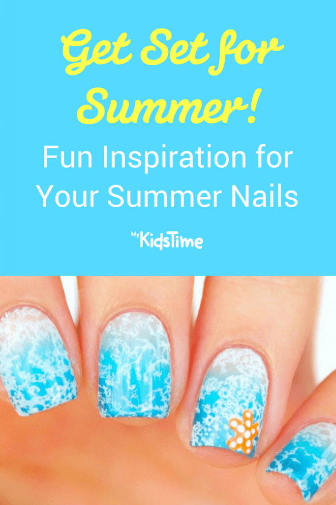 Summer nails pinterest graphic