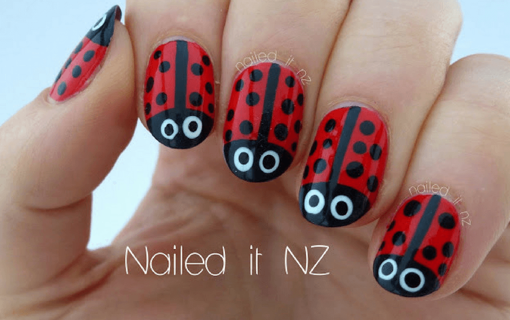Ladybird nails for summer nails