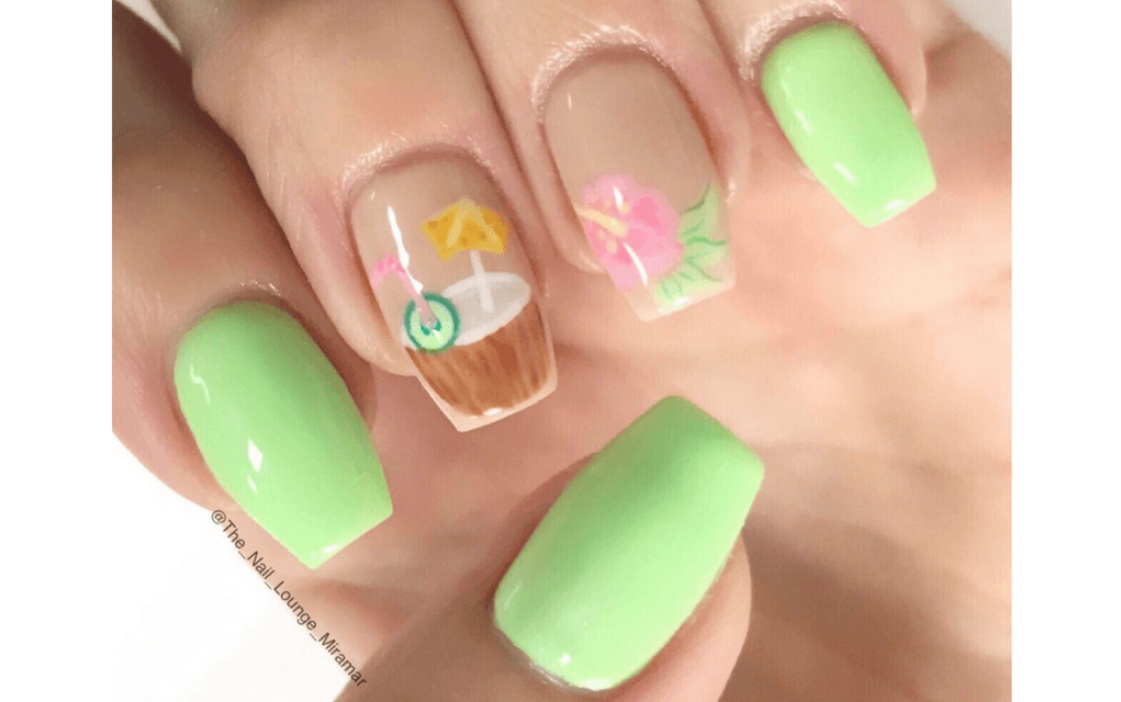 Coconut cocktail nails