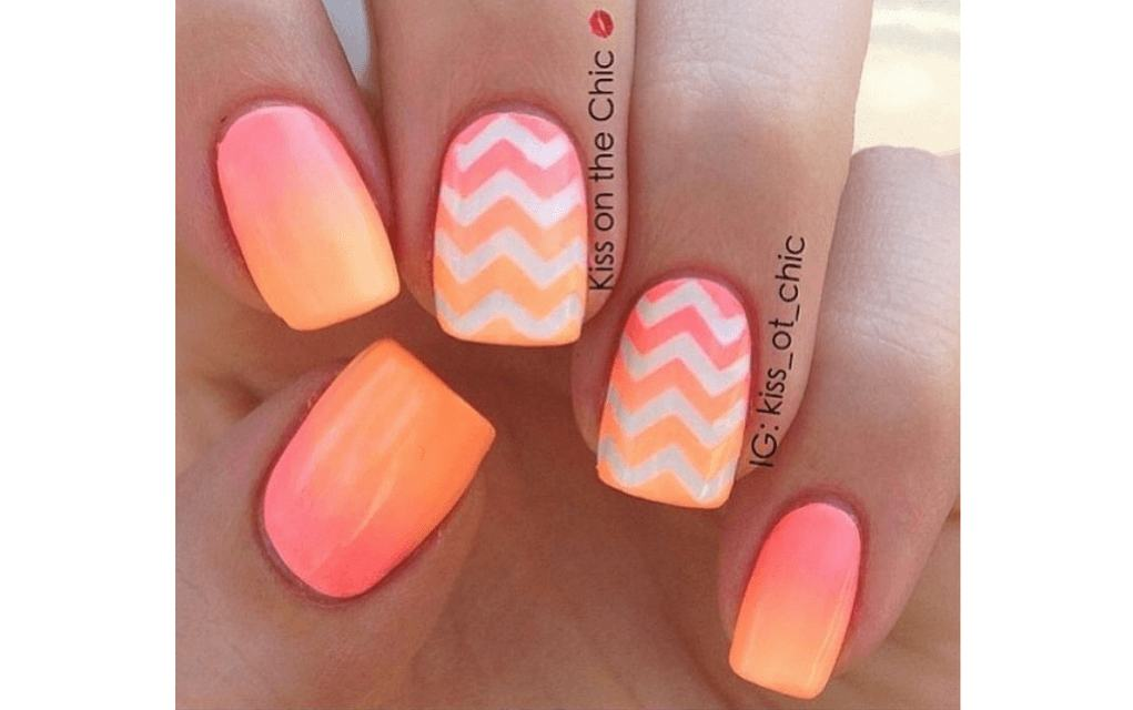 Summer nails ombre sunset
