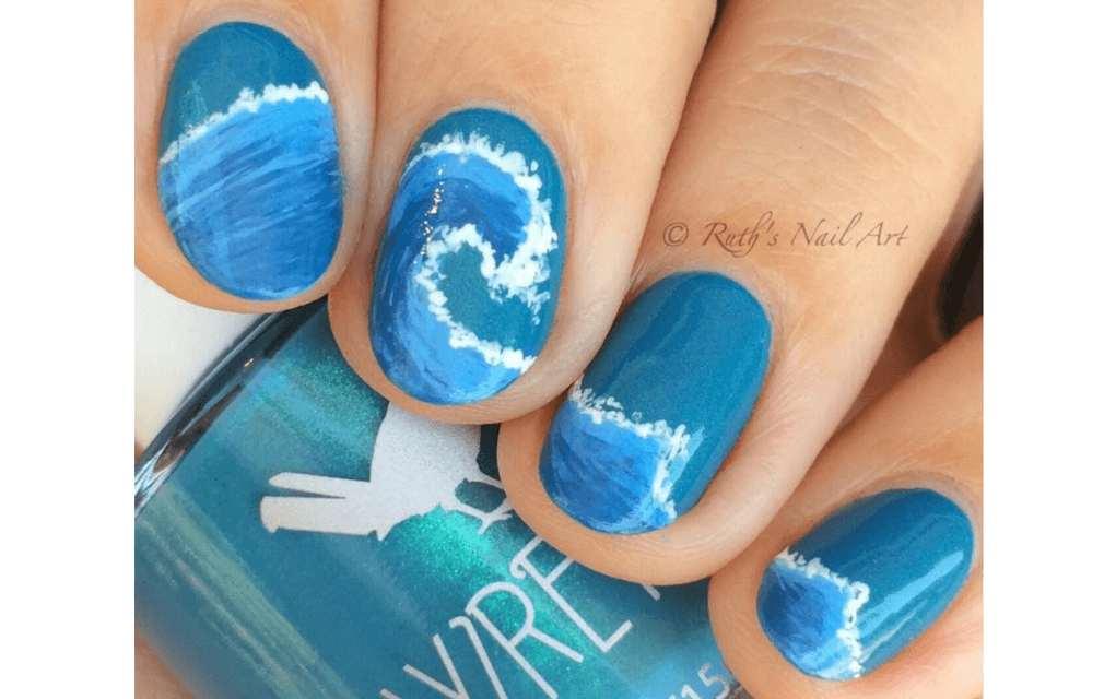 Summer nails surf design