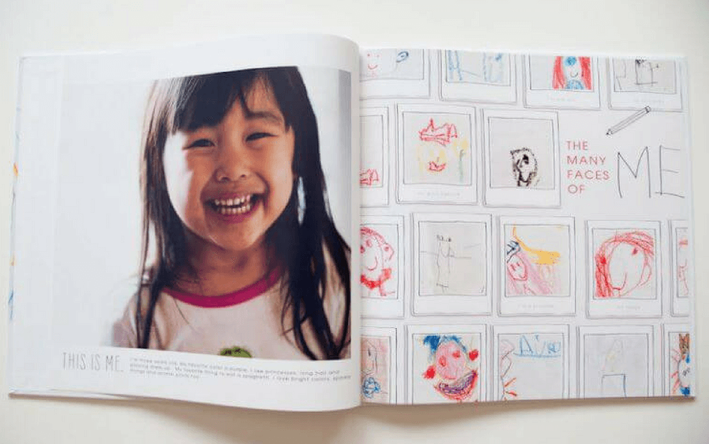 Coffee table art book from Paislee Press for Display your child's artwork