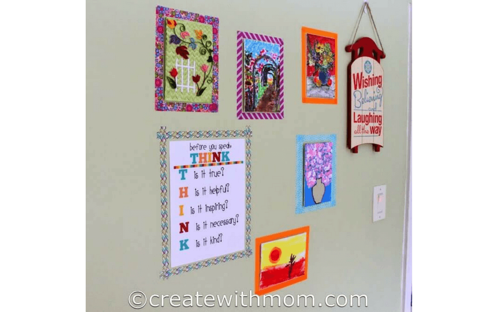washi tape frames from creative with mom for Display your child's artwork