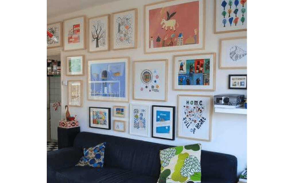 framed art from Nina van de Goor for Display your child's artwork