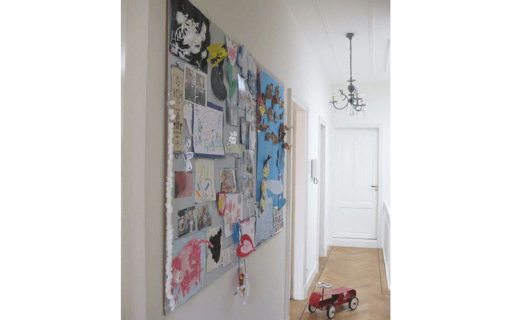 Giant art collage from for Display your child's artwork