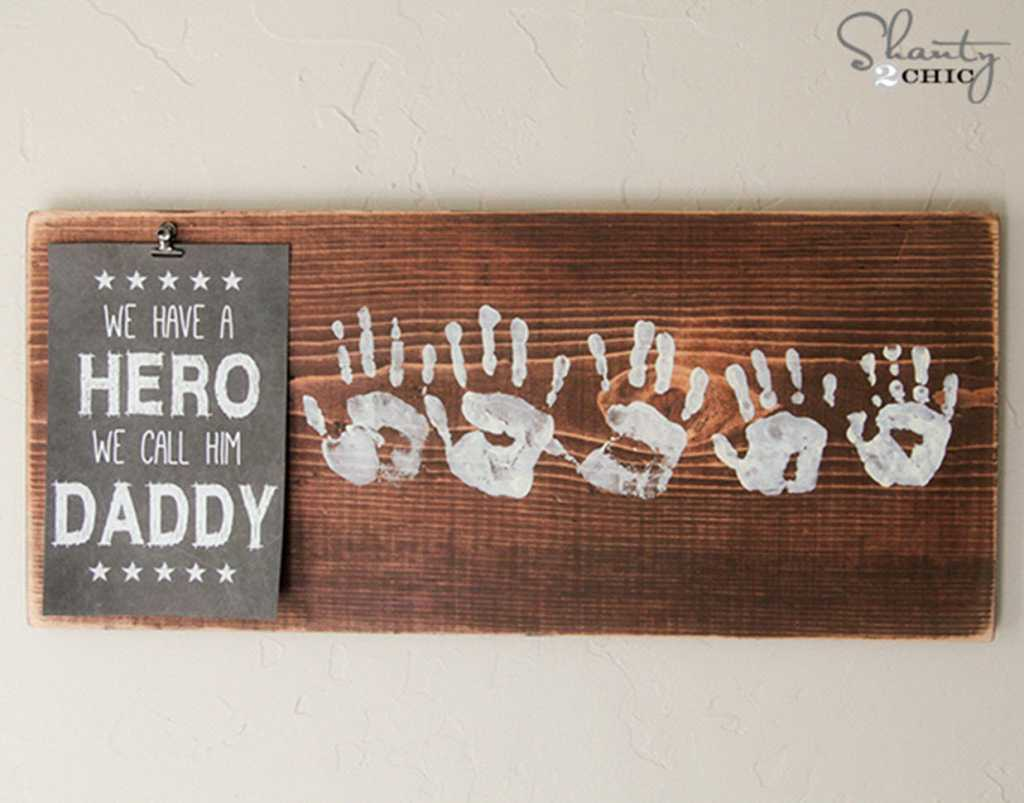 hero daddy wall plaque for homemade father's day gifts