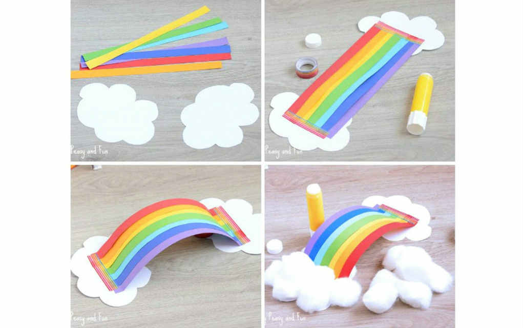 rainbow paper craft ideas