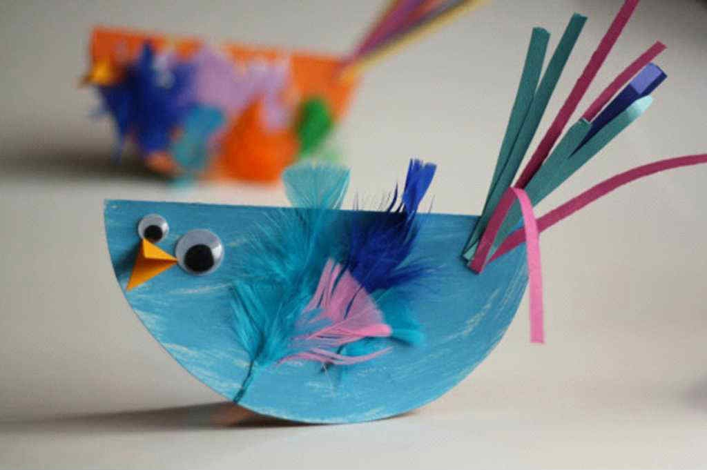 rocking bird paper craft