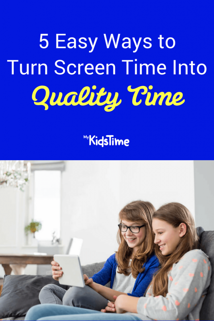 Screen time pinterest graphic