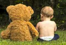 teddy-bear-picnic baby and bear