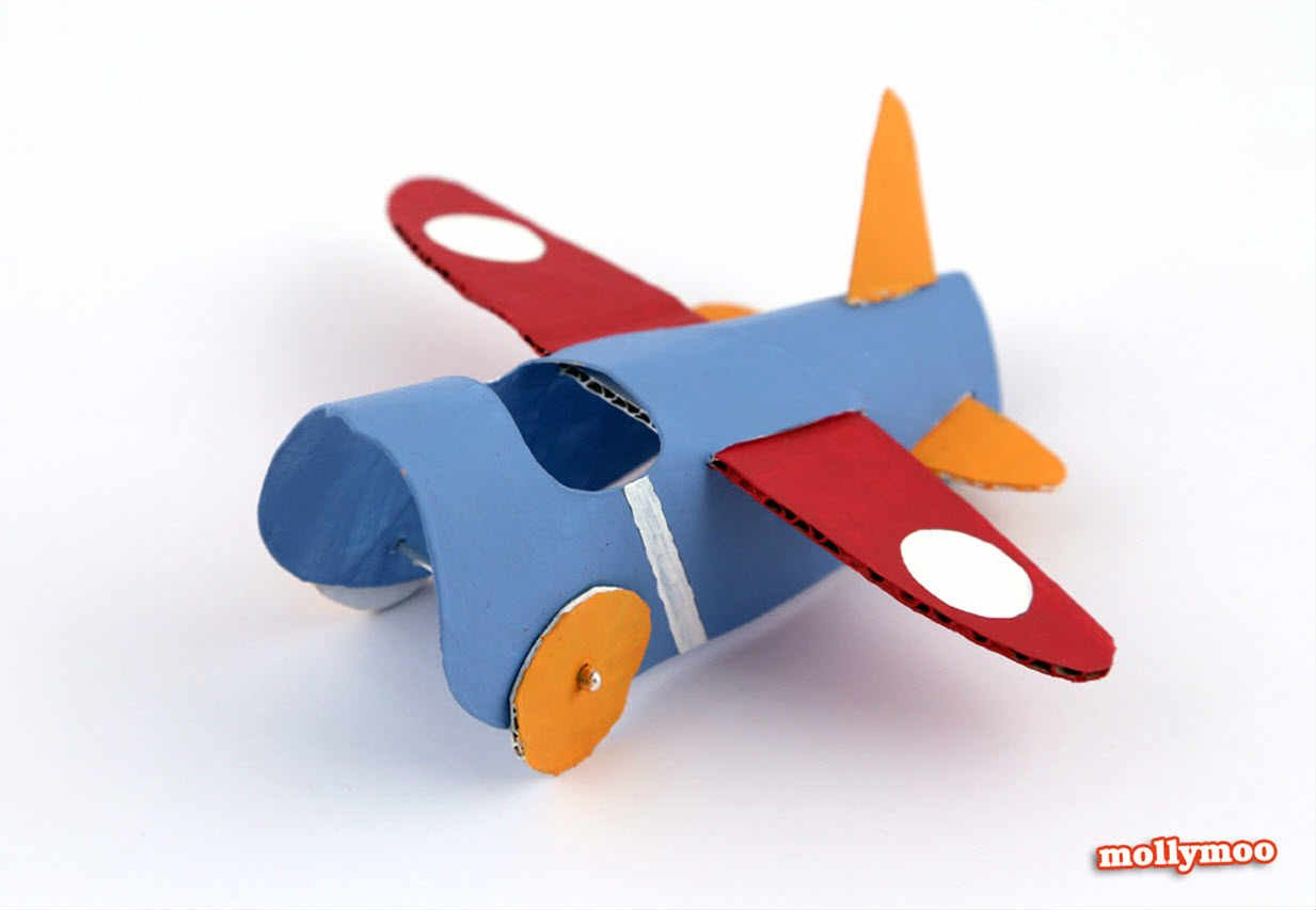 toilet roll airplane paper craft ideas