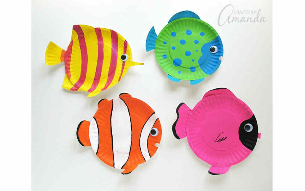 tropical fish paper craft