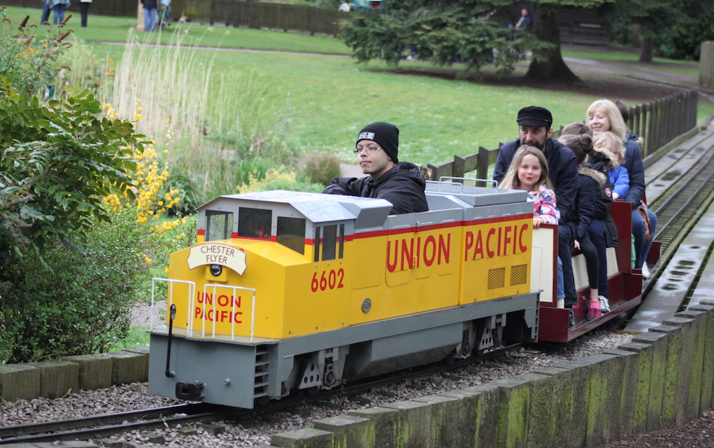 Grosvenor Park for train rides in the UK