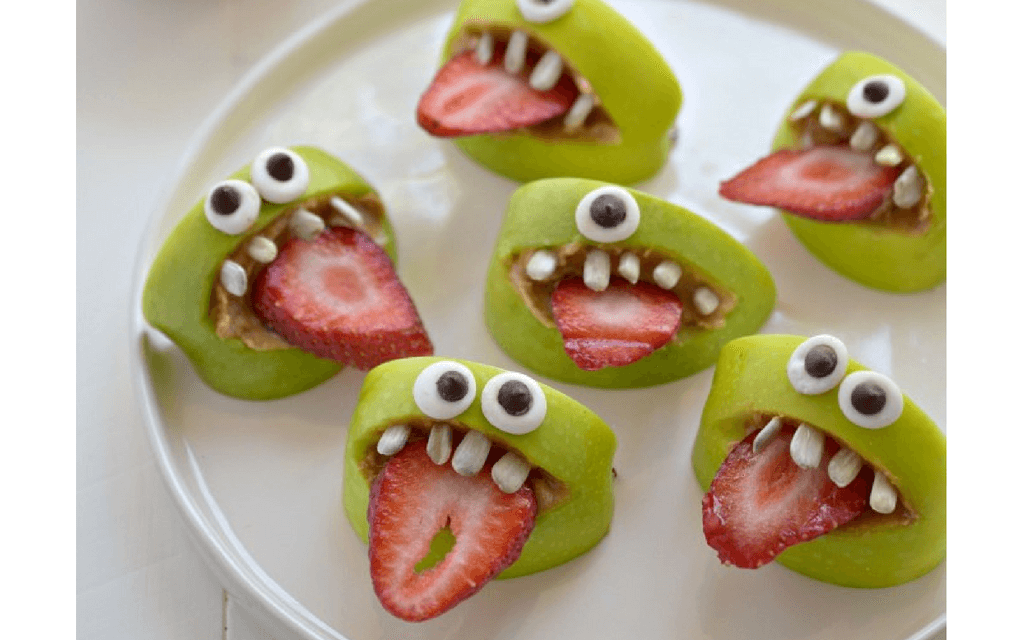 Apple Bites for Halloween party food ideas