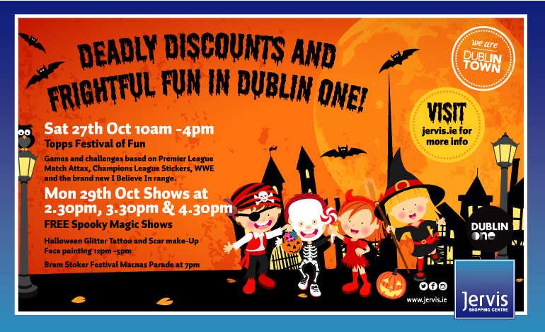 Free Events for Halloween at Jervis Street
