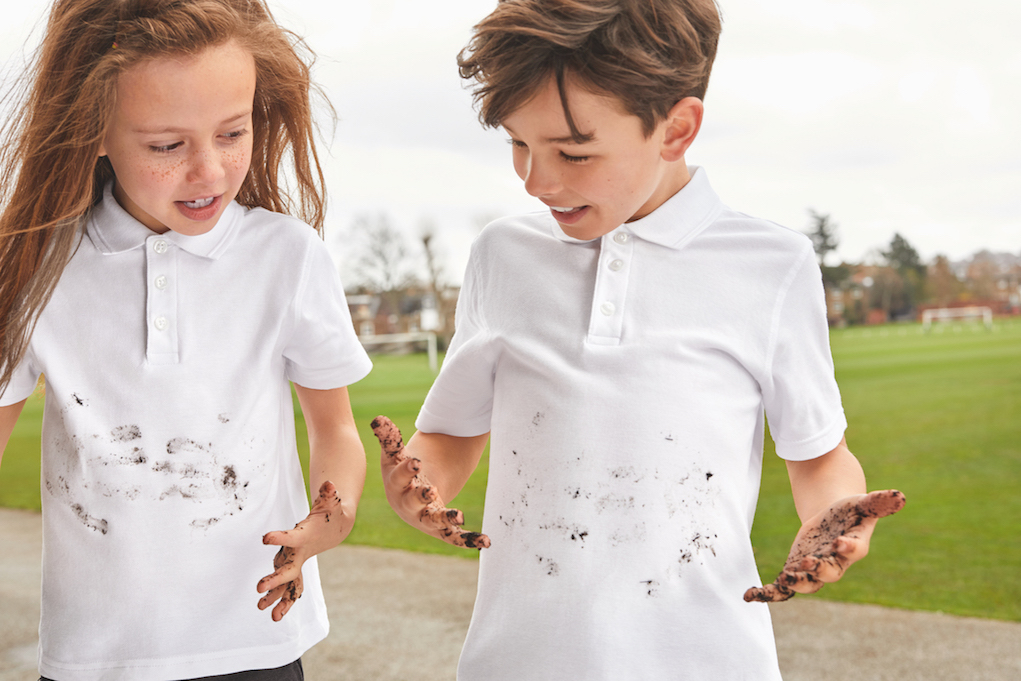 M&S School Uniform 2018 Muddy hands