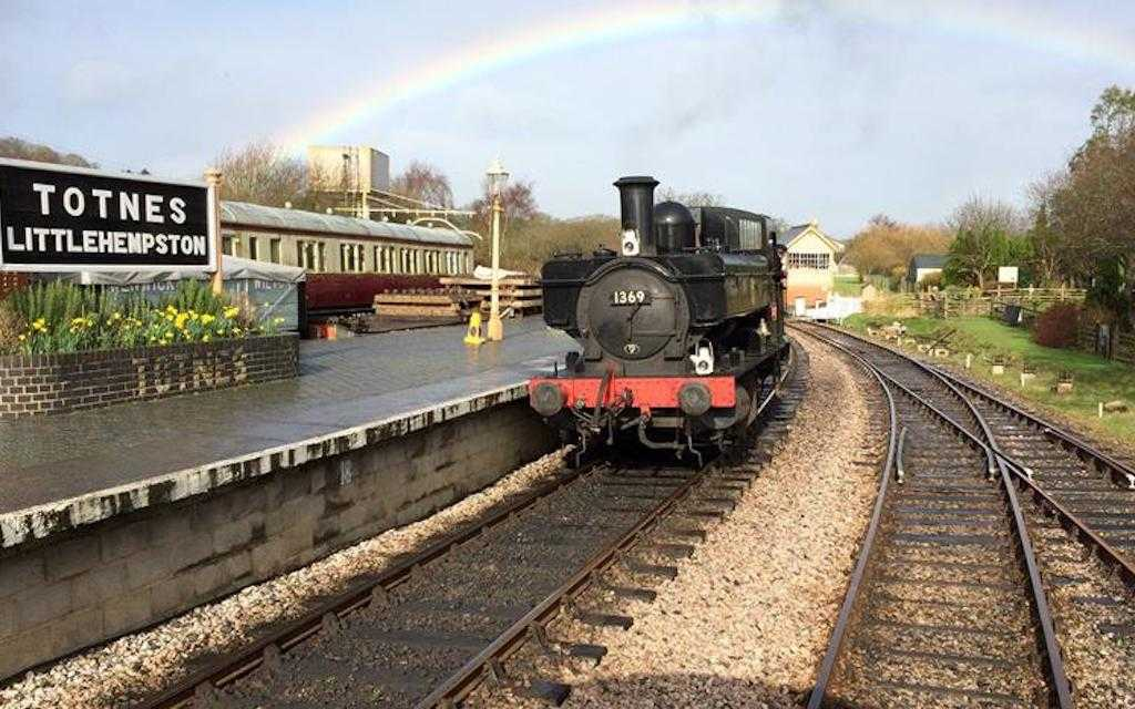 South devon railway for train rides in the UK